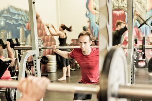 Langhantel-Workout beim Crossfit